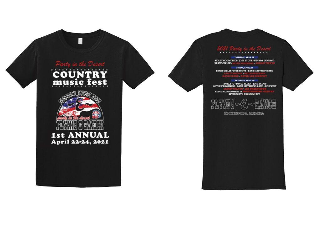 Party in the Desert T-shirt design